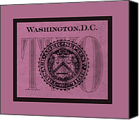D.c. Digital Art Canvas Prints - TWO in LIGHT PINK Canvas Print by Rob Hans