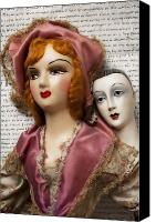Collectible Canvas Prints - Two old dolls Canvas Print by Garry Gay