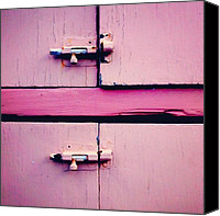 Pink Canvas Prints - Two Open Locks Canvas Print by Julie Gebhardt