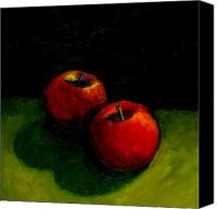 Red Apple Canvas Prints - Two Red Apples Still Life Canvas Print by Michelle Calkins