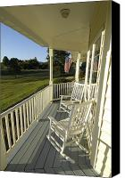 Rocking Chairs Photo Canvas Prints - Two Rocking Chairs On A Sunlit Porch Canvas Print by Scott Sroka