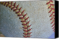 Mlb Canvas Prints - Two Seamer Canvas Print by Bill Owen