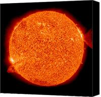 Chromosphere Canvas Prints - Two Solar Prominences Erupt Canvas Print by Stocktrek Images