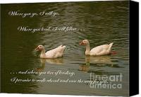 Unity Canvas Prints - Two Swans - Marriage Vows Canvas Print by Yali Shi