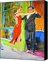 Tango Canvas Prints - Two to Tango Canvas Print by Judy Kay
