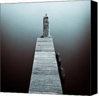 Jetty Canvas Prints - Two Tyres Canvas Print by David Bowman