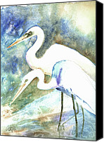 Crane Canvas Prints - Twosome  Canvas Print by Arline Wagner