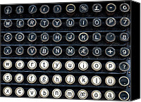 Typewriter Canvas Prints - Typewriter Keyboard Canvas Print by Hakon Soreide
