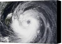 Natural Disasters Canvas Prints - Typhoon Chaba In The Western Pacific Canvas Print by Stocktrek Images