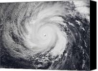 Natural Disasters Canvas Prints - Typhoon Faxai In The Western Pacific Canvas Print by Stocktrek Images