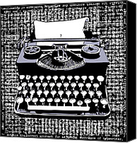 Typewriter Canvas Prints - Typography Canvas Print by Laura Brightwood