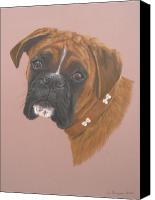 Boxer Pastels Canvas Prints - Tyson Canvas Print by Joanne Simpson