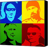 Blue Greeting Cards Canvas Prints - U2 Canvas Print by John  Nolan