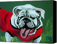 Mascot Pastels Canvas Prints - Uga Canvas Print by Pete Maier