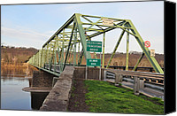 Steal Canvas Prints - Uhlerstown Frenchtown Bridge Canvas Print by Bill Cannon