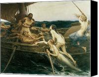 Siren Canvas Prints - Ulysses and the Sirens Canvas Print by Herbert Draper