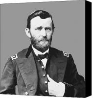 American Presidents Canvas Prints - Ulysses S Grant Canvas Print by War Is Hell Store