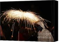 Pyrotechnics Canvas Prints - Umbrella of sparks Canvas Print by Agusti Pardo Rossello