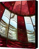 View Askew Canvas Prints - Umpqua Lighthouse Lens Canvas Print by Katherine Adams