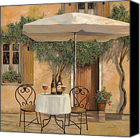 Winery Canvas Prints - Un Altro Bicchiere Prima Di Pranzo Canvas Print by Guido Borelli