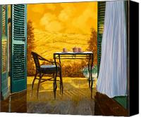 Table Canvas Prints - Un Caldo Pomeriggio D Canvas Print by Guido Borelli