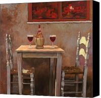 Table Canvas Prints - un fiasco di Chianti Canvas Print by Guido Borelli