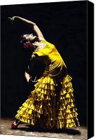 Pose Canvas Prints - Un momento intenso del flamenco Canvas Print by Richard Young