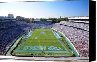 Nc Canvas Prints - UNC Kenan Stadium Endzone View Canvas Print by Replay Photos