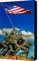 Old Digital Art Canvas Prints - Uncommon Valor Canvas Print by Don Lovett