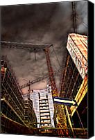 Archival Canvas Prints - Under Construction Two Canvas Print by Adriano Pecchio