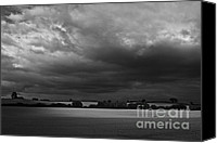 Rural Scenes Photo Canvas Prints - Under Dark Sky Canvas Print by Heiko Koehrer-Wagner