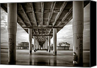 Pillars Canvas Prints - Under the Boardwalk Canvas Print by David Bowman
