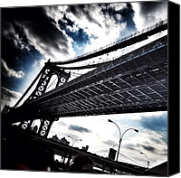 Featured Canvas Prints - Under The Bridge Canvas Print by Christopher Leon