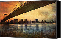 City Streets Canvas Prints - Under the Bridge Canvas Print by Svetlana Sewell