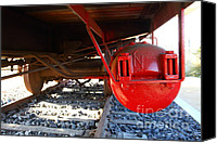 Old Caboose Canvas Prints - Under The Old Western Pacific Caboose Train . 7D10722 Canvas Print by Wingsdomain Art and Photography
