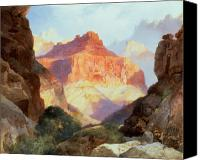 Thomas Moran Canvas Prints - Under the Red Wall Canvas Print by Thomas Moran