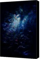 Other World Canvas Prints - Under the Sea Canvas Print by Rachel Christine Nowicki