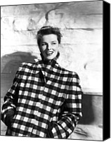 1946 Movies Canvas Prints - Undercurrent, Katharine Hepburn, 1946 Canvas Print by Everett