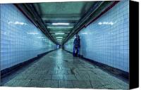 Nyc Photo Canvas Prints - Underground Inhabitants Canvas Print by Evelina Kremsdorf