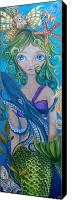 Sea Aquatic Canvas Prints - Underwater Mermaid Canvas Print by Jaz Higgins
