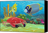 Coral Reef Art Canvas Prints - Underwater Sea Friends Canvas Print by Martin Davey