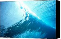 Water Art Canvas Prints - Underwater Wave Canvas Print by Vince Cavataio - Printscapes