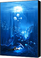 Blue Swan Canvas Prints - Underwater World Canvas Print by Svetlana Sewell