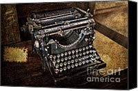 Typewriter Canvas Prints - Underwood Typewriter Canvas Print by Susan Candelario