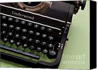 Typewriter Keys Photo Canvas Prints - Underwood Canvas Print by Valerie Morrison