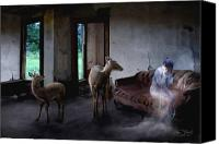 Paranormal  Digital Art Canvas Prints - Unexpected Company Canvas Print by Tom Straub