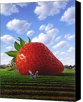 Strawberry Canvas Prints - Unexpected Growth Canvas Print by Jerry LoFaro