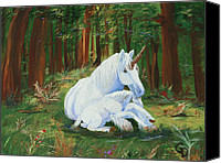 Unicorns Canvas Prints - Unicorns Lap Canvas Print by Gail Daley