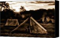 Tent Digital Art Canvas Prints - Union Camp Canvas Print by Bill Cannon