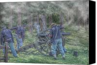Civil War Anniversary Canvas Prints - Union Civil War Cannon Canvas Print by Randy Steele